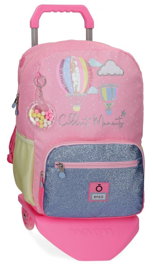 90323T1 mochila grande 43cm portaordenador con carro enso collect moments