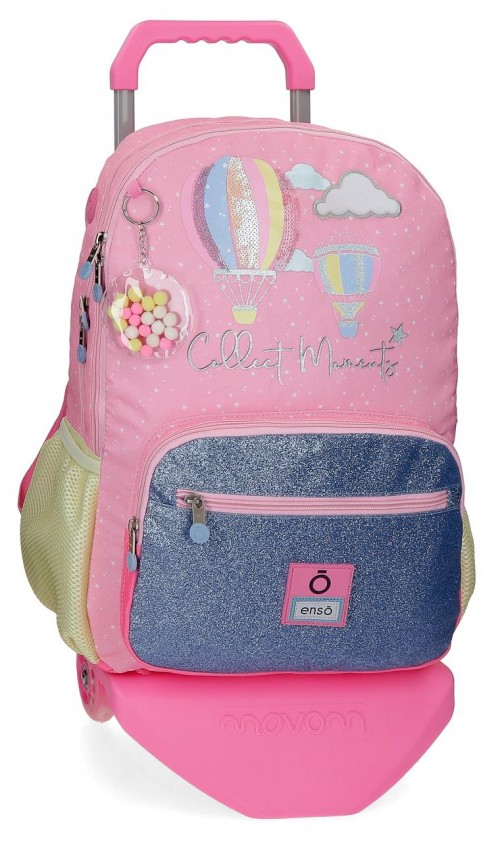 90324T1  mochila 44cm con carro de doble comp. enso collect moments