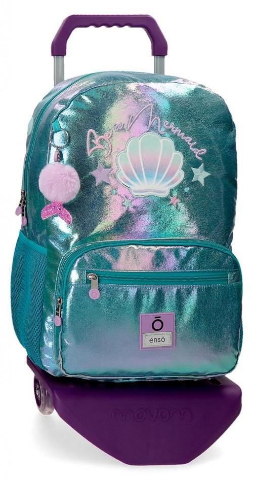 90523T1 mochila grande 42cm con carro y portaordenador enso be mermaid