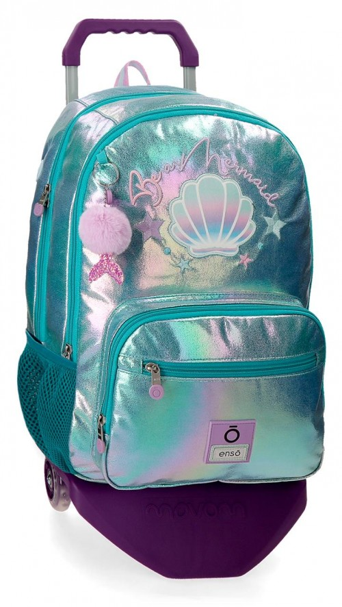 90524T1  mochila 44cm con carro doble c. enso be mermaid