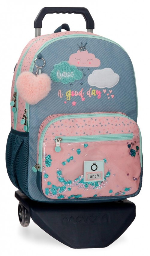 90624T1 mochila 44cm con carro doble comp. enso good day