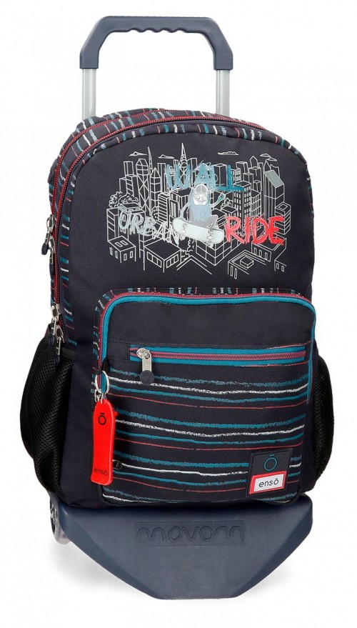 90724T1 mochila 44cm doble comp. con carro enso wall ride