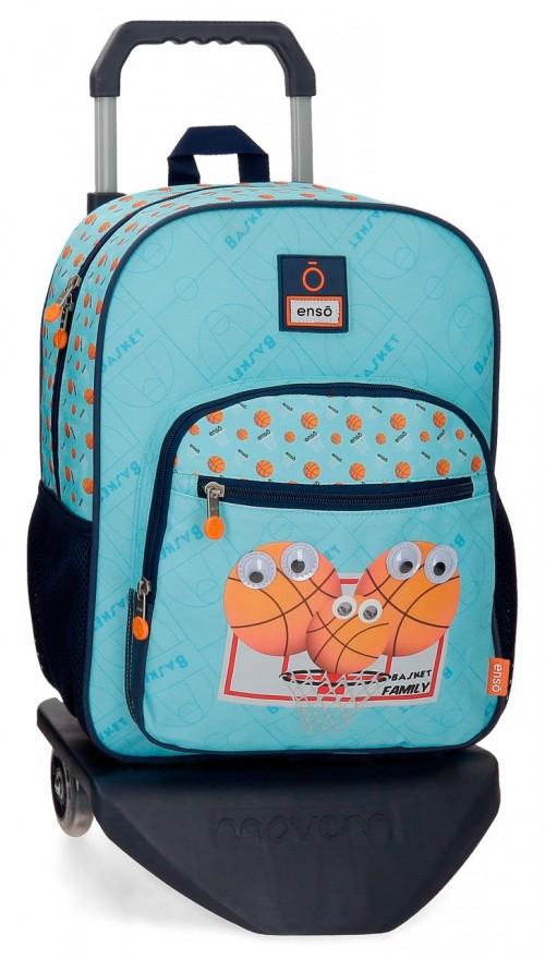 91623T1  mochila mediana 38cm con carro enso basket family