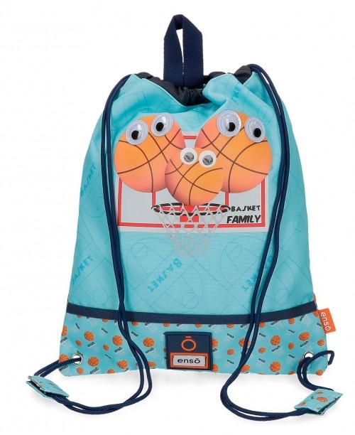 9163721 bolsa de merienda enso basket family