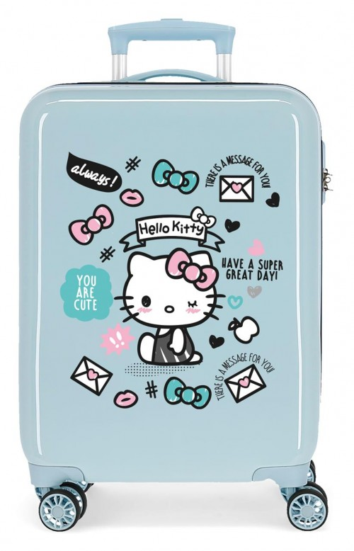 2151721 maleta de cabina hello kitty you are cute azul