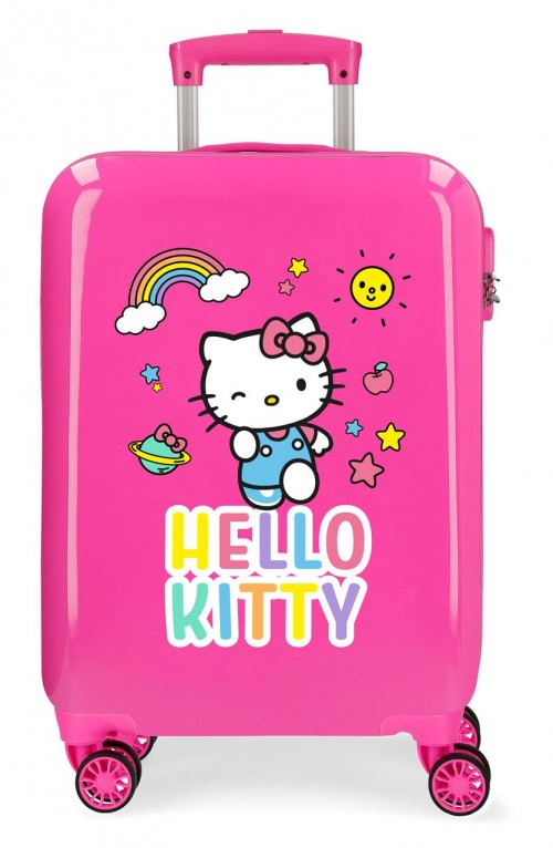 2151722 maleta de cabina hello kitty you are cute rosa