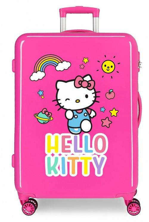 2151822 Maleta Mediana Hello Kitty You Are Cute Fucsia