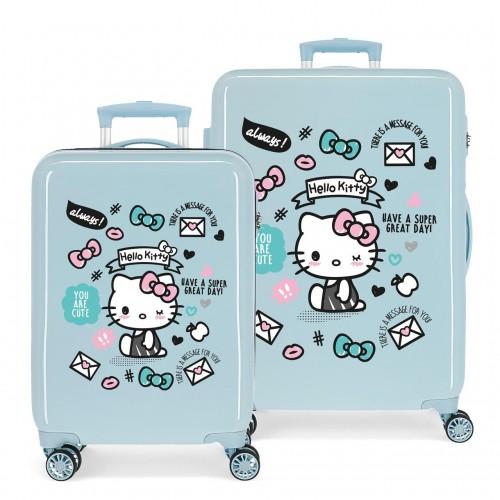 2151921 Juego Maletas Cabina y Mediana Hello Kitty You Are Cute
