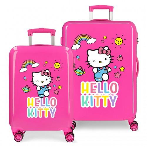 2151922 Juego Maletas Cabina y Mediana Hello Kitty You Are Cute