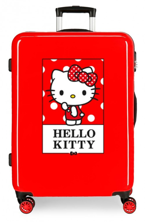 3191822 maleta mediana hello kitty bow of hello kitty rojo