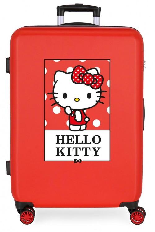 3191822 maleta mediana hello kitty bow of hello kitty rojo