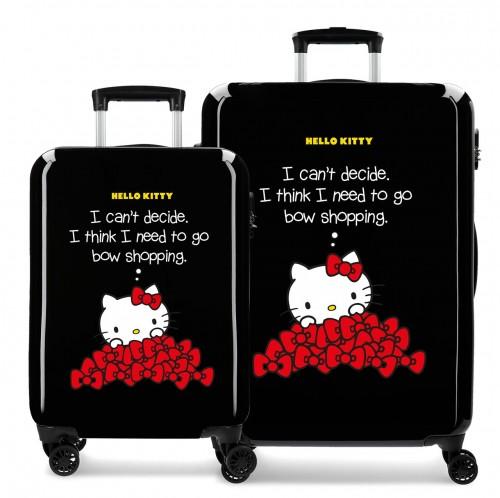 3191921 Juego Maletas Cabina y Mediana Hello Kitty Bow Of Hello Kitty