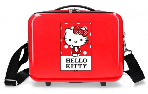 3193922 neceser hello kitty bow of hello kitty rojo