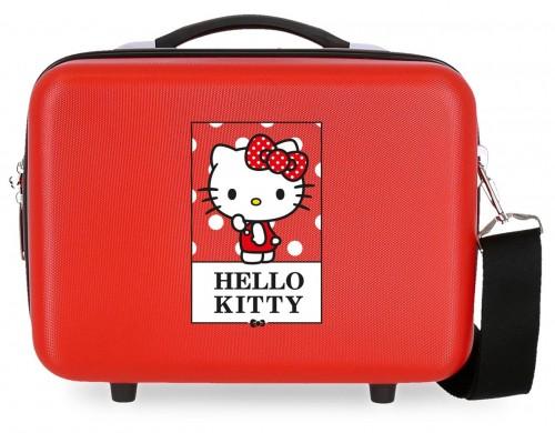 3193922 neceser hello kitty bow of hello kitty rojo