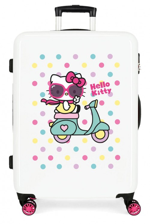 4231822 maleta mediana hello kitty girl gang blanco
