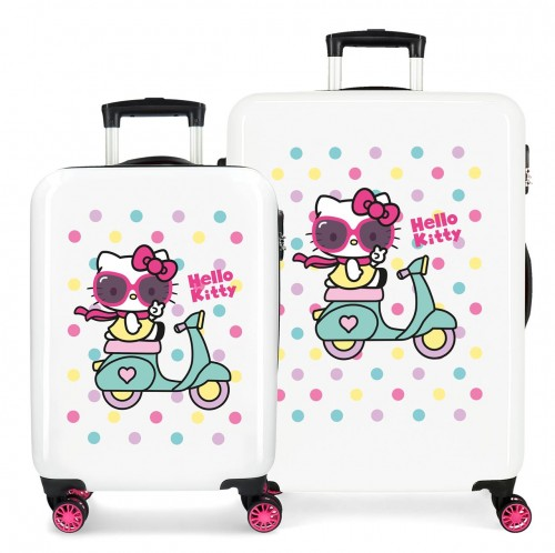 4231922 juego maletas cabina y mediana hello kitty girl gang