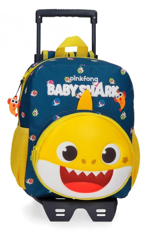 21121T1  Mochila con Carro 28 cm Baby Shark My Good Friend