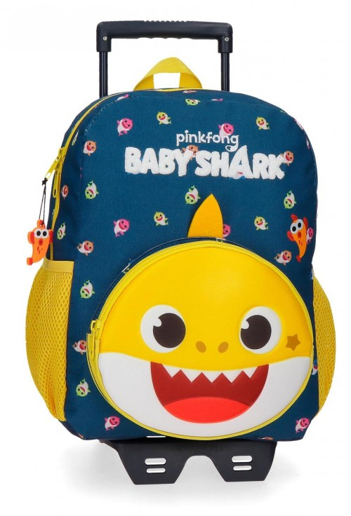 21122T1  Mochila con Carro 32 cm Baby Shark My Good Friend