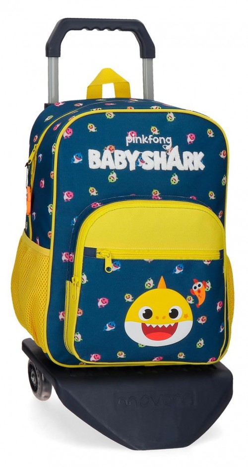 21123T1 Mochila Mediana con Carro 38 cm  Baby Shark My Good Friend
