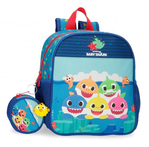 2122021 Mochila Guardería 25 cm Baby Shark Happy Family