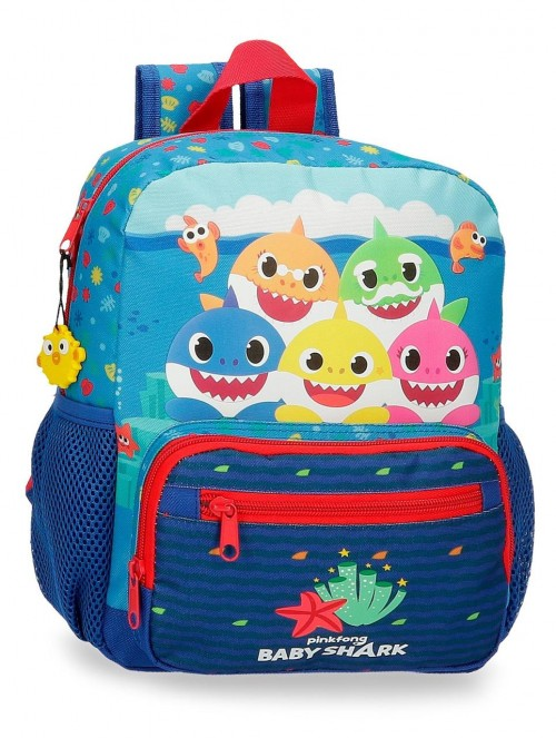 21221D1 Mochila Adaptable 28 cm Baby Shark Happy Family