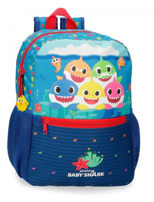 21222D1 Mochila Adaptable 32 cm Baby Shark Happy Familly