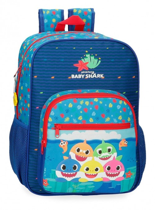 21223D1 Mochila Mediana Adaptable 38 cm Baby Shark Happy Family