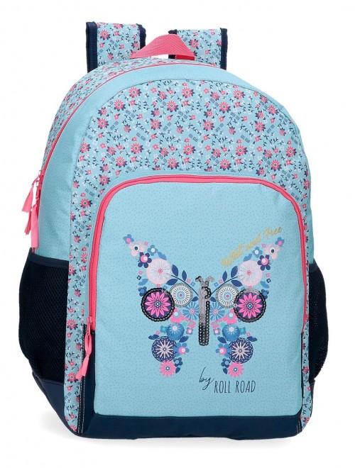 40825D1 mochila grande 46 cm con cantoneras adaptable roll road wild and free