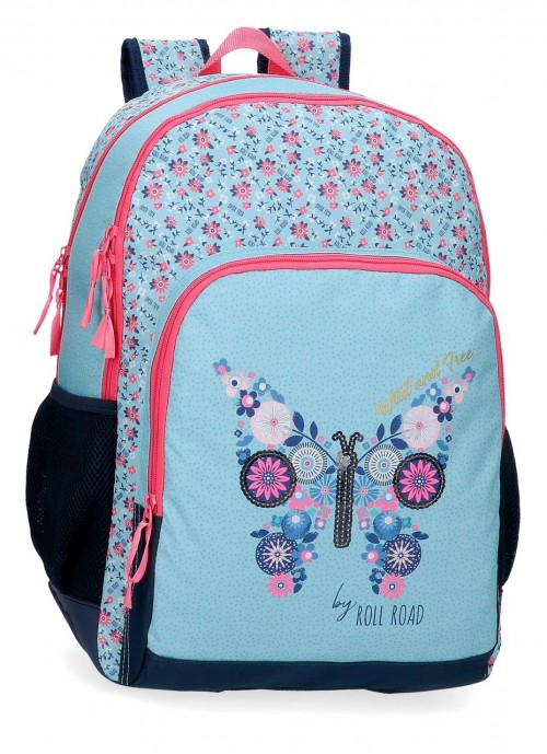 40826D1 mochila grande 44 cm doble c. con antoneras roll road wild and free
