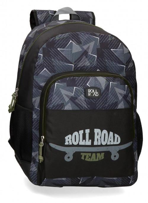 41125D1 mochila grande 46 cm con cantoneras de goma roll road team