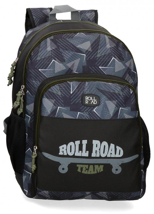 41126D1 mochila doble c. con cantoneras y adaptable roll road team