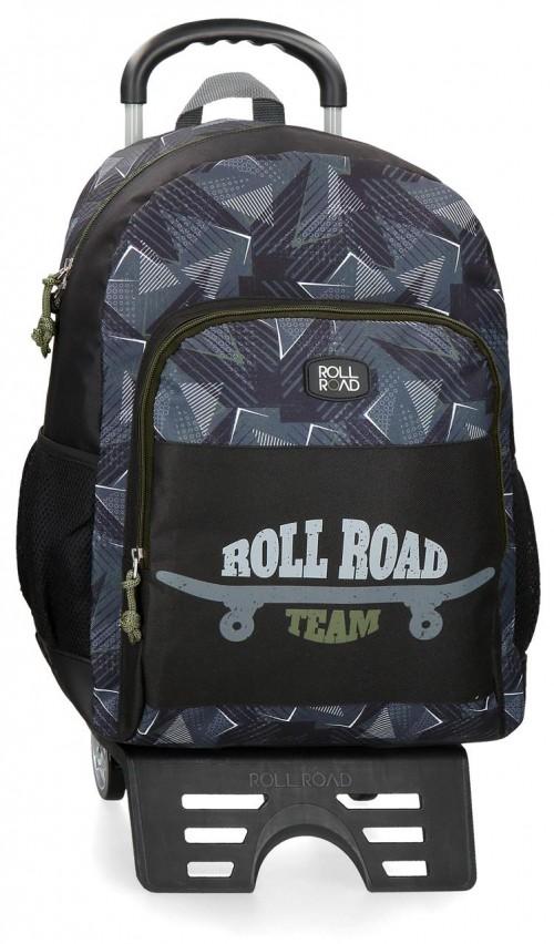 41126T1 mochila 46 cm con carro doble c. y cantoneras broll road team