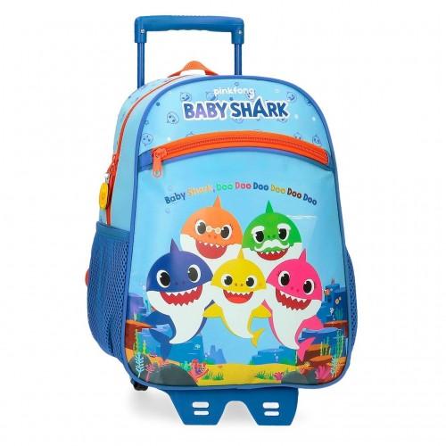 41522T1 mochila 33 cm con carro baby shark