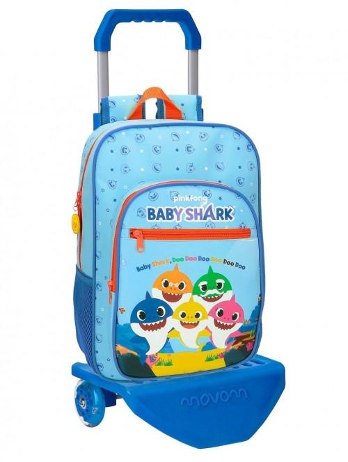41523T1 mochila mediana 38 cm con carro baby shark