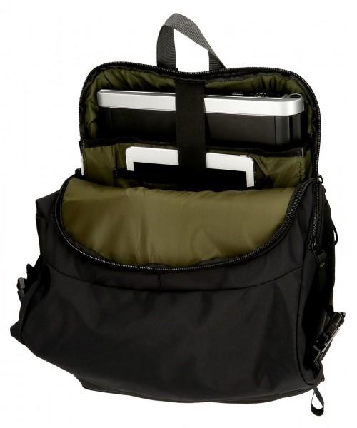 7142421 mochila portaordenador Pepe Jeans Sail Negro