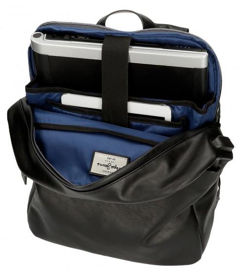 7152221 mochila portaordenador y tablet Pepe Jeans Vegan Negro