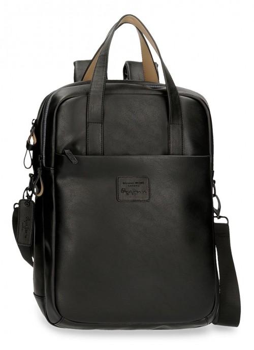 7152421 mochila portaordenador 42 cm  Pepe Jeans Vegan Negro
