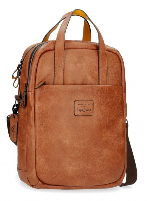 7152422 mochila portaordenador 42 cm Pepe Jeans Vegan marrón
