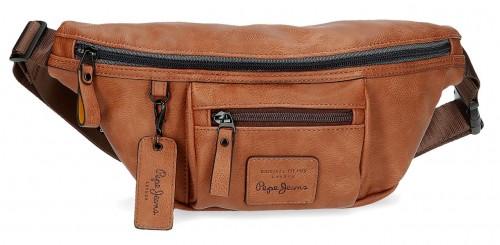 7154722 riñonera 23 cm pepe jeans vegan marrón