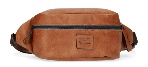 7154922 riñonera 28 cm pepe jeans vegan  marrón