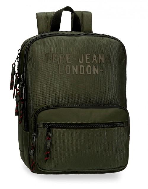 7162222 mochila portaordenador 36 cm Pepe Jeans Bromley verde