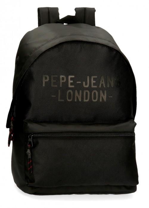 7162321 mochila 42 cm Portaordenador Pepe Jeans Bromley negro