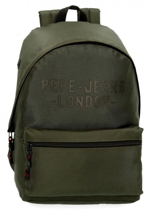 7162322 mochila 42 cm Portaordenador Pepe Jeans Bromley verde
