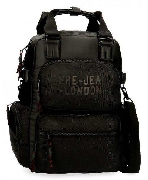 7162421 mochila 41 cm portaordenador Pepe Jeans Bromley negro