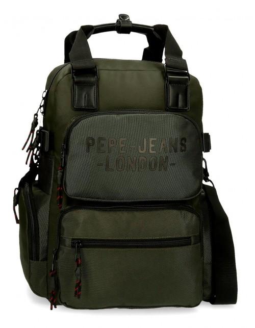 7162422 mochila 41 cm portaordenador  Pepe Jeans Bromley verde