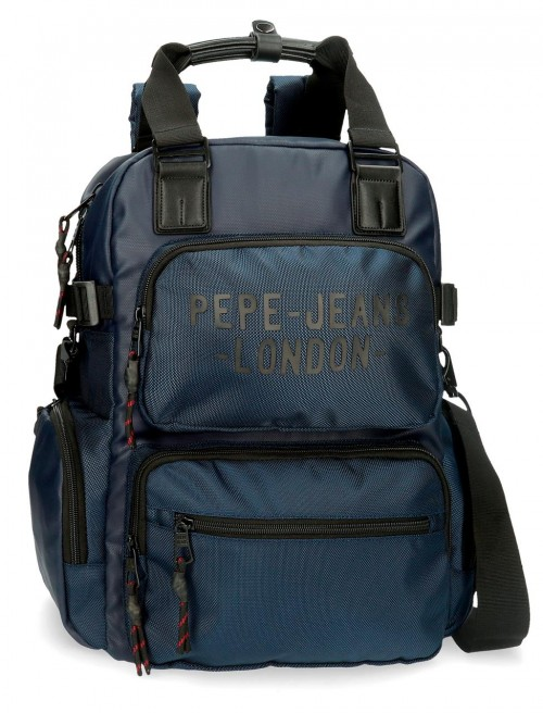 7162423 mochila 41 cm portaordenador Pepe Jeans Bromley azul