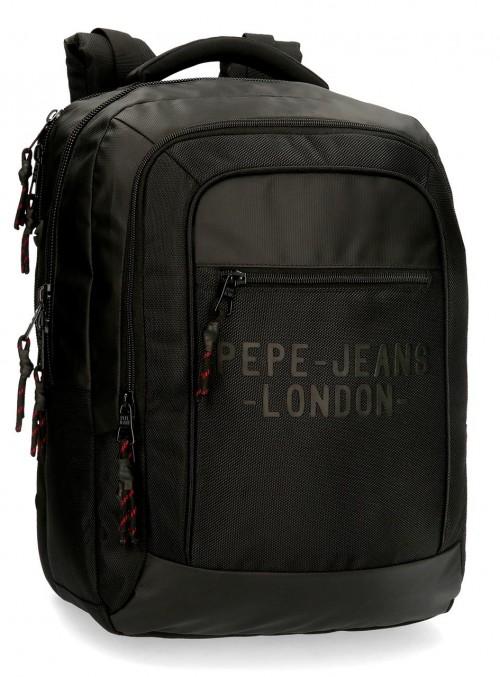 7162721 mochila 47 cm portaordenador Pepe Jeans Bromley negro