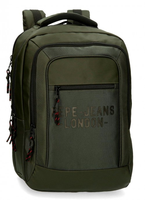 7162722 mochila 47 cm portaordenador  Pepe Jeans Bromley verde