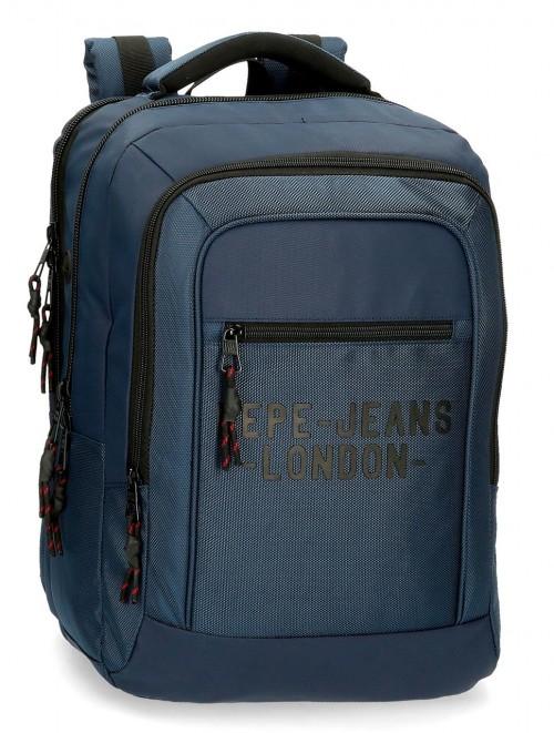 7162723 mochila 47 cm portaordenador   Pepe Jeans Bromley azul