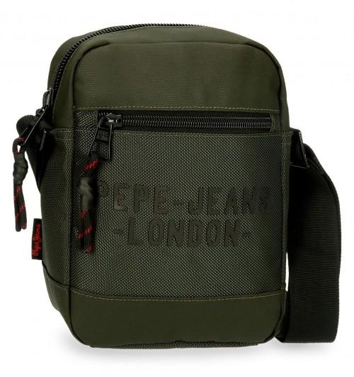 7165022 bandolera pequeña 21 cm pepe jeans bromley verde
